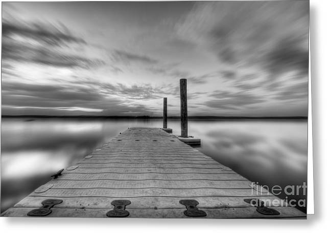 Manasquan Reservoir Greeting Cards - In motion Greeting Card by Michael Ver Sprill