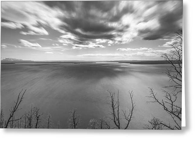Clouds Posters Greeting Cards - In Motions Greeting Card by Jon Glaser