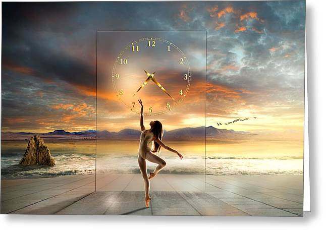Glass Wall Greeting Cards - In My Dreams ... Greeting Card by Franziskus Pfleghart