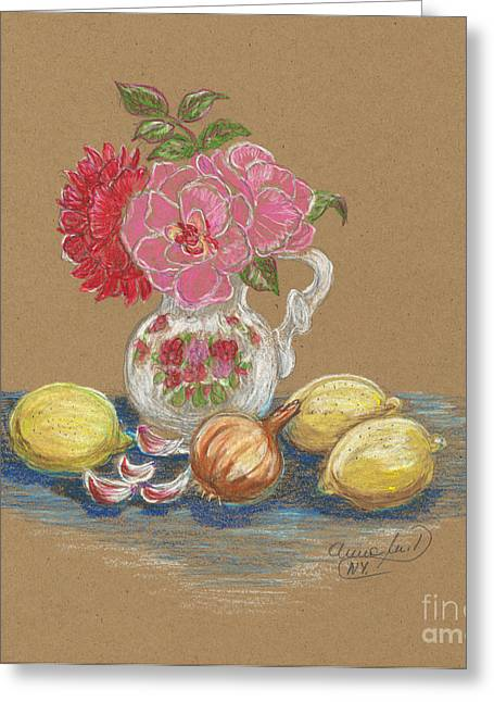 Anna Maciejewska-dyba Greeting Cards - In My Kitchen  Greeting Card by Anna Folkartanna Maciejewska-Dyba