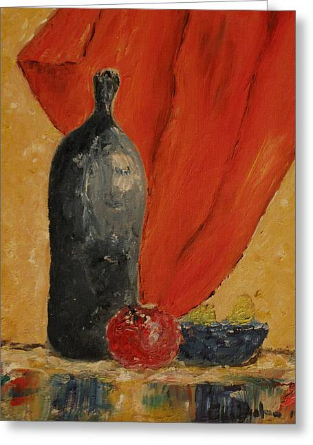 Pottery Pitcher Greeting Cards - In My Kitchen  Greeting Card by Catherine Dyalram
