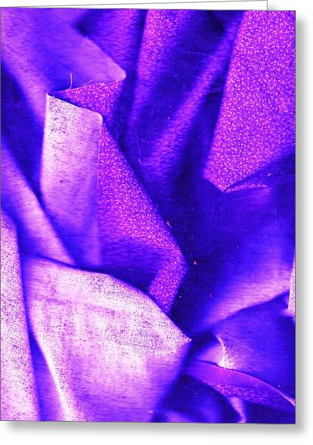 Affirm Mixed Media Greeting Cards - In My Purple Comfort Zone Greeting Card by Anne-Elizabeth Whiteway