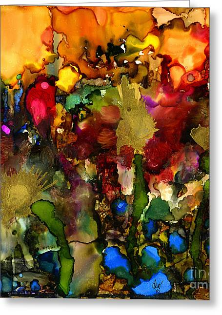 Survivor Art Greeting Cards - In My Sisters Garden Greeting Card by Angela L Walker