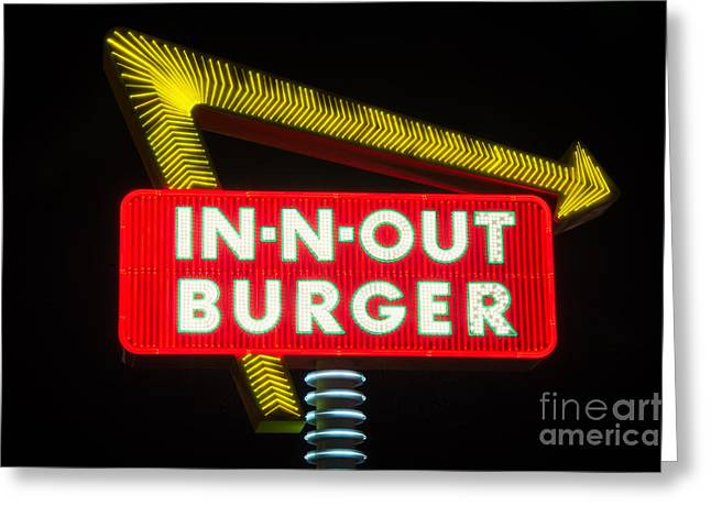 Hamburger Greeting Cards - In-N-Out Burger Greeting Card by Eddie Yerkish