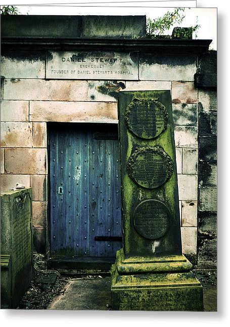 Headstones Greeting Cards - In Old Calton Cemetery Greeting Card by RicardMN Photography