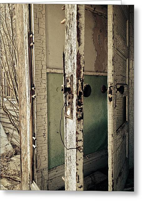 Rustic Photo Greeting Cards - In Or Out  Greeting Card by Jerry Cordeiro