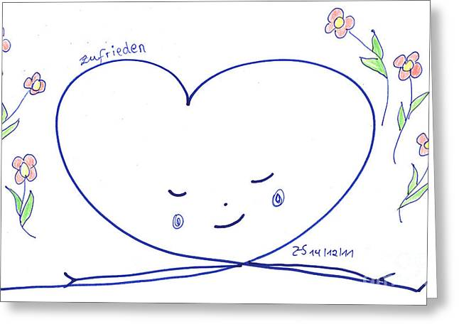 Human Spirit Drawings Greeting Cards - In peace Greeting Card by Heidi Sieber