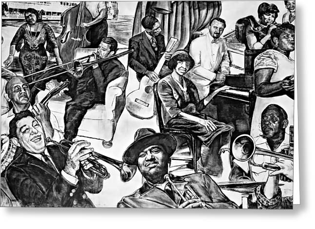 Celebration Art Print Digital Art Greeting Cards - In Praise of Jazz II Greeting Card by Steve Harrington