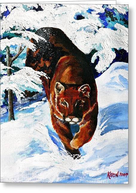 Wet Paint Greeting Cards - In Pursuit Greeting Card by Karon Melillo DeVega