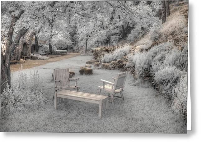 Infrared Photography Greeting Cards - In Quiet Places Greeting Card by Jane Linders