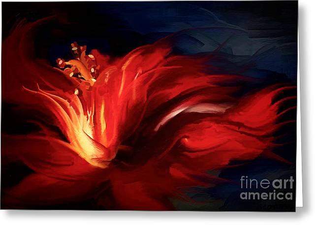 Popular Art Greeting Cards - In Red Greeting Card by Shanina Conway