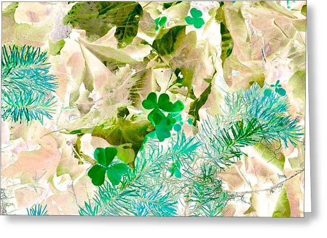 Forest Floor Greeting Cards - In Seasons Past Greeting Card by Bonnie Bruno