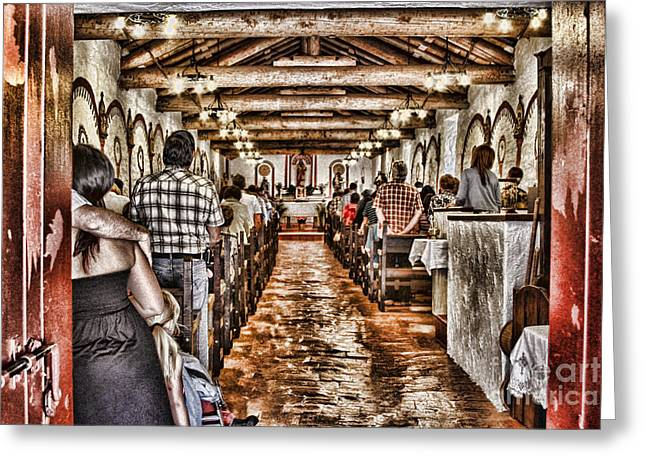 In Service Mission San Antonio De Pala By Diana Sainz Greeting Card by Diana Sainz
