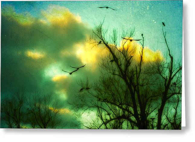 Clouds In Motion Greeting Cards - In Slow Motion Greeting Card by Gothicolors Donna Snyder