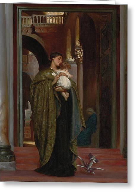 Leighton Paintings Greeting Cards - In St Marks Greeting Card by Frederic Leighton