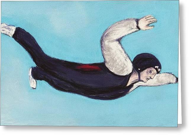 Diving Pastels Greeting Cards - In the Air Greeting Card by Anastasiya Malakhova