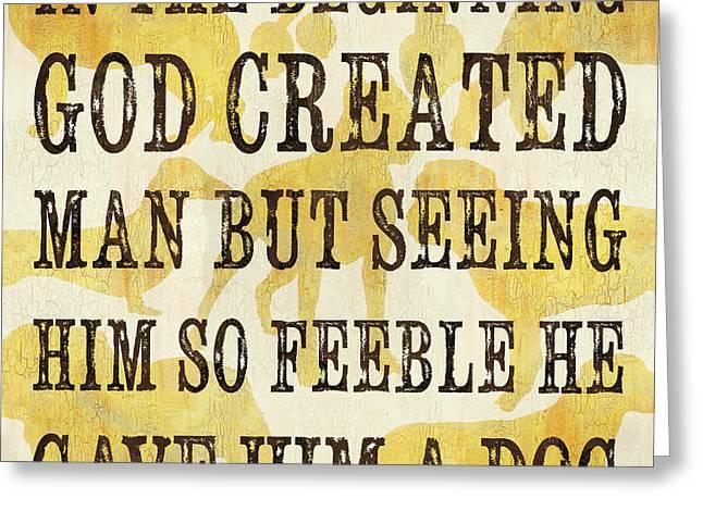 In the Beginning... Greeting Card by Debbie DeWitt
