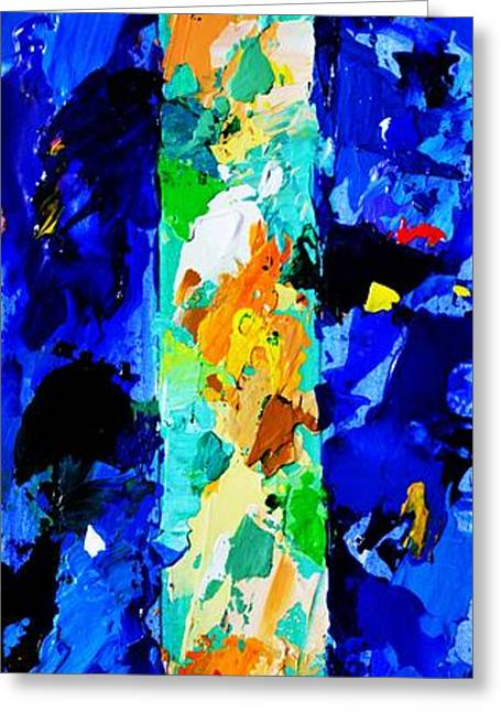 Abstract Expressionist Greeting Cards - In the Beginning God created the heaven and the earth - Genesis 1 1 - Abstract Painting Greeting Card by Philip Jones