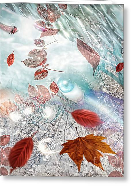 Passing The Time Greeting Cards - In the Blink of an Eye Greeting Card by Mo T