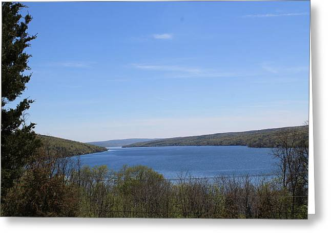Keuka Greeting Cards - In the Blue Greeting Card by Jenelle Hall