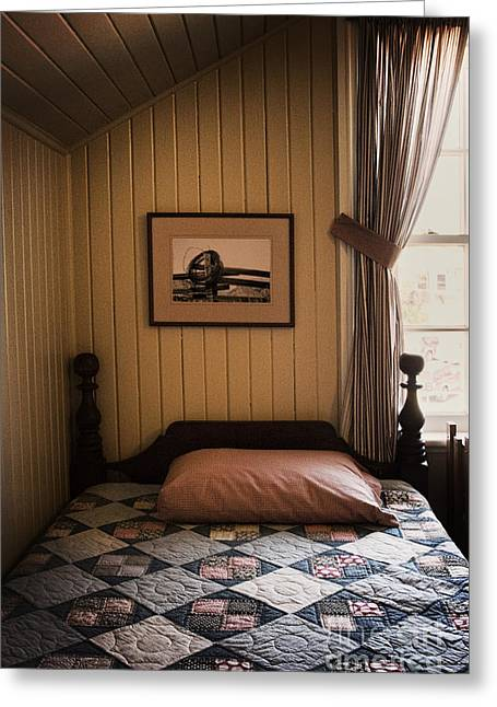 Bed Quilts Greeting Cards - In The Boys Room Greeting Card by Margie Hurwich