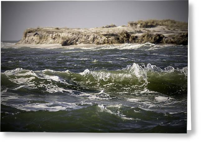 Sandy Point Park Greeting Cards - In the Breach Greeting Card by Vicki Jauron