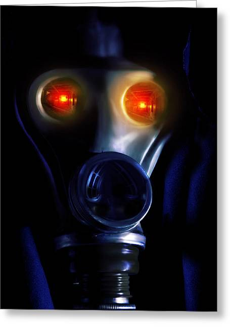 Creepy Digital Art Greeting Cards - In the bunker Greeting Card by Nathan Wright