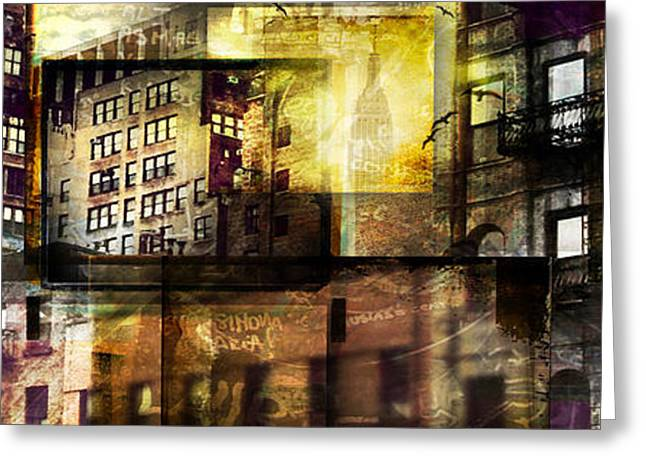 Ps Greeting Cards - In The City Greeting Card by Jeff Klingler