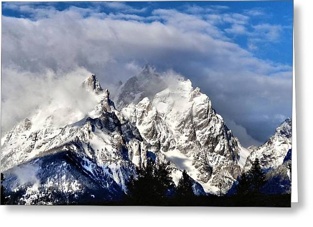 The Teton Range Greeting Card by Dan Sproul