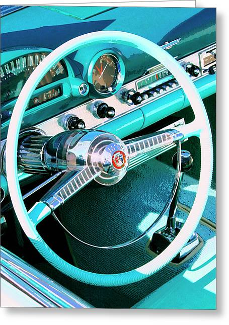 Palm Springs Car Show Greeting Cards - IN THE COCKPIT Palm Springs Greeting Card by William Dey