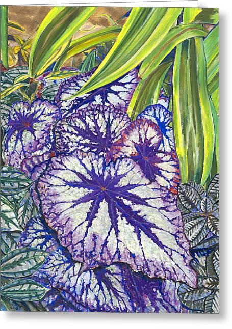 Violet Pastels Greeting Cards - In the Conservatory-7th Center-Violet Greeting Card by Nick Payne