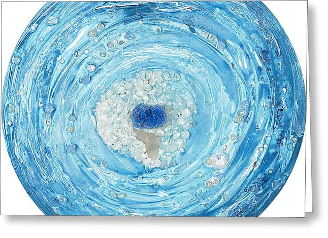 Blues Reliefs Greeting Cards - In the core of the heart Greeting Card by Heidi Sieber