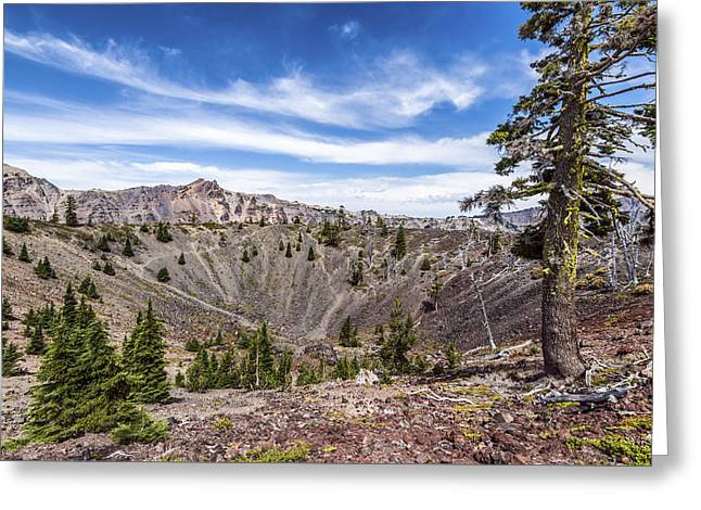 Crater Lake View Greeting Cards - In the Crater Greeting Card by Joseph S Giacalone