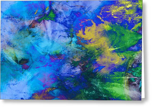Wal Greeting Cards - In the Deep abstract art Greeting Card by Ann Powell
