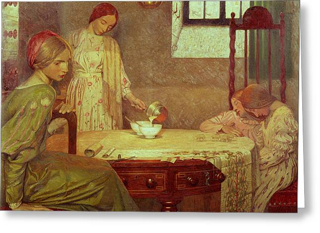 Interior Woman Greeting Cards - In The Depth Of Winter Greeting Card by Frederick Cayley Robinson