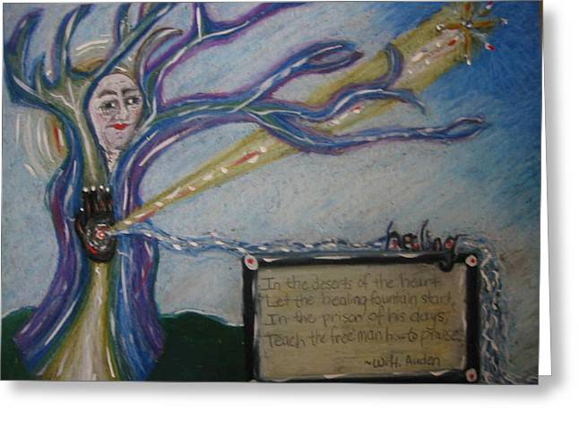 Portal Pastels Greeting Cards - In the Deserts of the Heart Greeting Card by Dawn Richerson