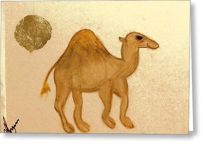 Hall Pastels Greeting Cards - In the Desert Greeting Card by Morgan Hall Dykes