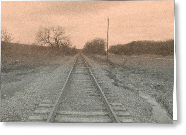 Altered Photograph Greeting Cards - In the Distance - Surreal Greeting Card by Rhonda Barrett