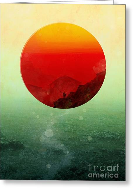 Color Digital Art Greeting Cards - In the end the sun rises Greeting Card by Budi Satria Kwan
