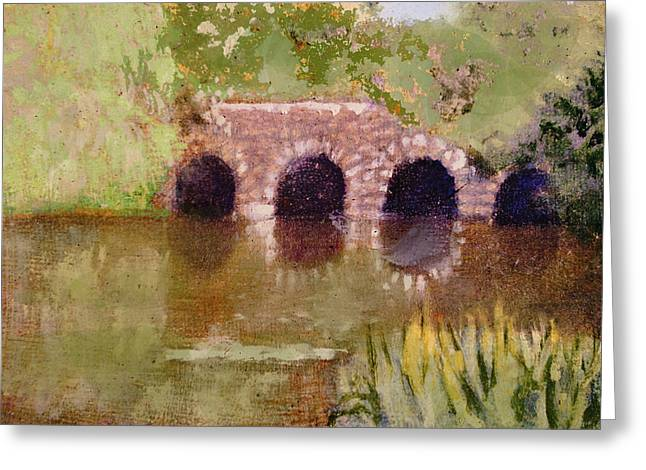 Pond In Park Greeting Cards - In the Fens Greeting Card by David Zimmerman