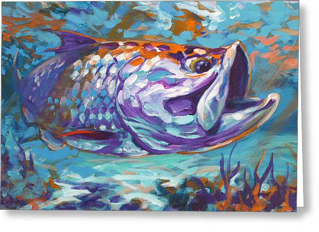 Sportfishing Greeting Cards - In The Flats Greeting Card by Mike Savlen