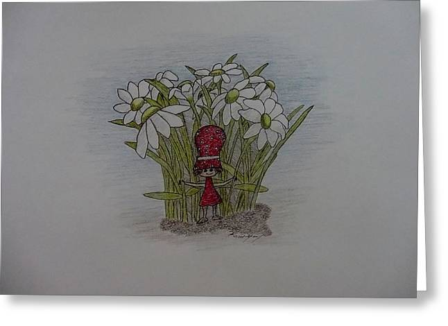 Best Sellers -  - Daughter Gift Greeting Cards - In The Flowers Greeting Card by Karrie Zenz