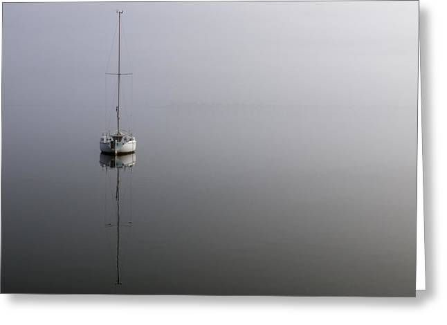 Shallowbag Bay Greeting Cards - In the Fog Greeting Card by Gregg Southard