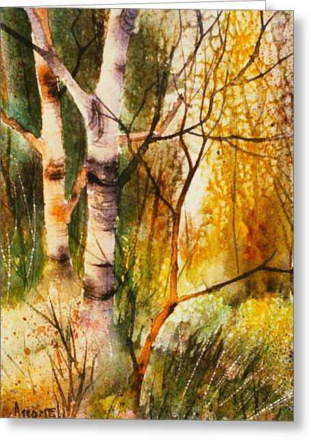 Sienna Greeting Cards - In the Forest Greeting Card by Teresa Ascone