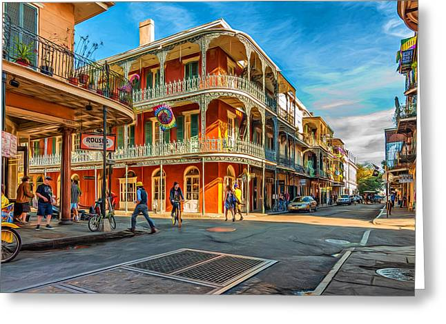 Grate Digital Greeting Cards - In the French Quarter - Paint Greeting Card by Steve Harrington