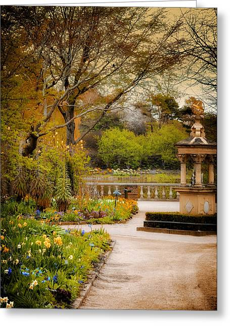 Chicago Botanic Garden Greeting Cards - In the Garden 2 Greeting Card by Julie Palencia
