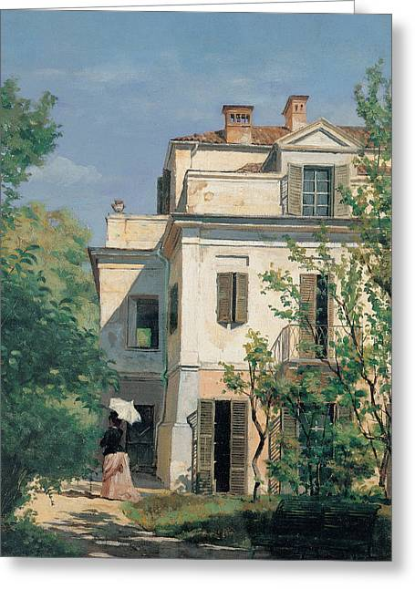 In The Shade Greeting Cards - In the Garden Greeting Card by Demetrio Cosola