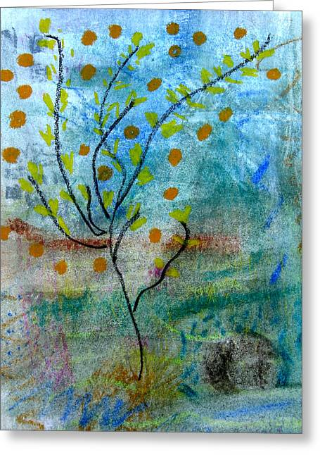 Muted Pastels Greeting Cards - In The Garden Greeting Card by Patricia Januszkiewicz