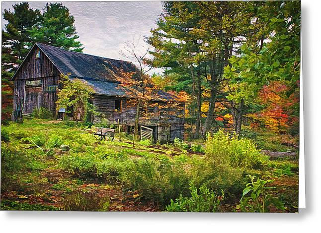 Worn In Digital Greeting Cards - In the Garden Greeting Card by Priscilla Burgers