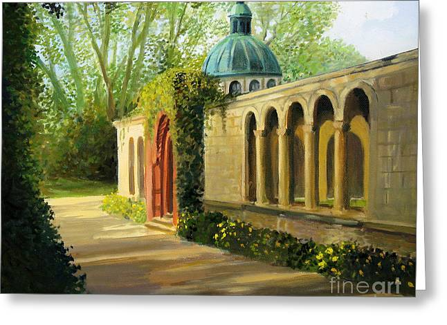 Historical Pictures Greeting Cards - In The Gardens of Sanssouci Greeting Card by Kiril Stanchev